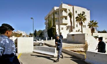 JORDANIAN POLICE GUARD ISRAEL'S EMBASSY IN AMMAN