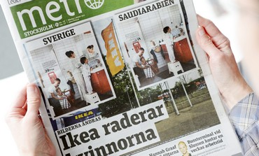 Swedish newspaper  images for Saudi IKEA catalogue
