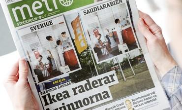 Swedish newspaper  images for Saudi IKEA catalogue