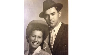 Daniel Eisenbud's late grandparents, in 1946