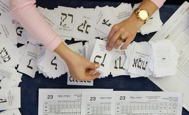 Voting in Israel.