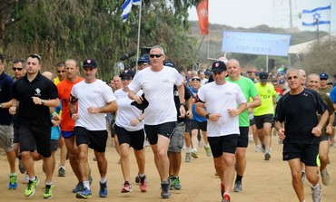 IDF Chief of Staff Benny Gantz on a run
