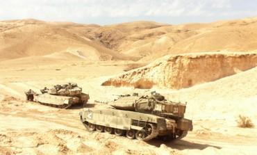 BATTALION 9 TANKS hold a war drill