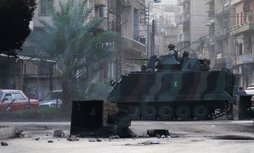 Lebanese soldiers patrol Tripoli following clashes