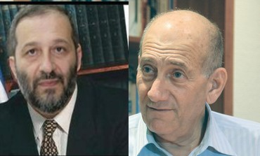 Ariyeh Deri and Ehud Olmert