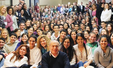 Sharansky with Jewish Agency program participants