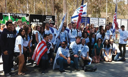 Pro-Israel students on US campus
