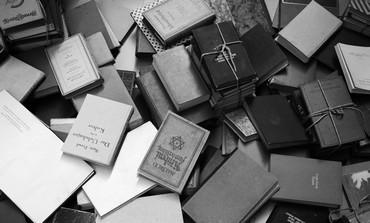 Display of books in Yad Vashem
