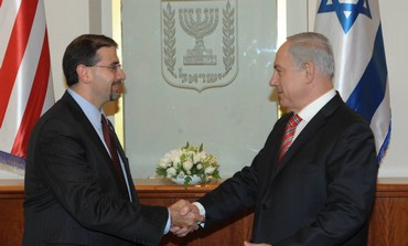 Binyamin Netanyahu and US Ambassador Dan Shapiro