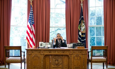 US President Obama speaks with PM Netanyahu