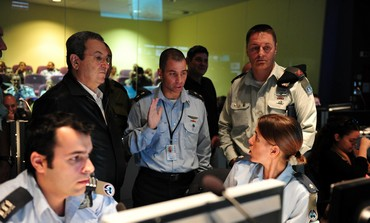 Ehud Barak at joint US-Israel drill
