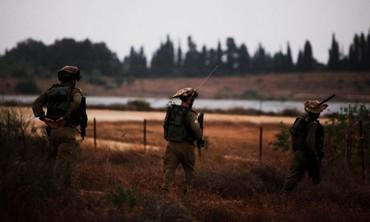 IDF soldiers patrol near Gaza