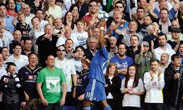 CHELSEA'S DIDIER Drogba Tottenham Hotspur fans.