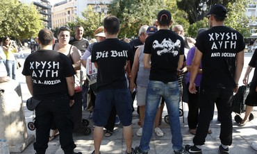 Golden Dawn supporters in Athens [file photo]