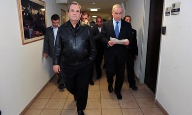 Ehud Barak and Binyamin Netanyahu.