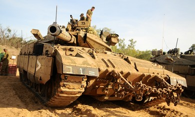 IDF forces mobilizing at Gaza border.
