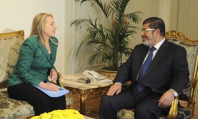 Clinton and Egypt's President Morsi
