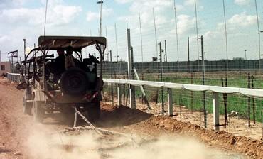 IDF vehicle patrols along Gaza border fence [file]