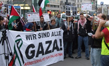 Pro Hamas demonstration Vienna.