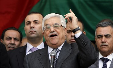 Abbas in rally for UN bid in Ramallah.