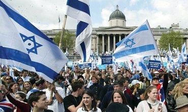 pro Israel demonstrators in London.