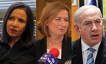 Netanyahu, Livni and Yacimovich
