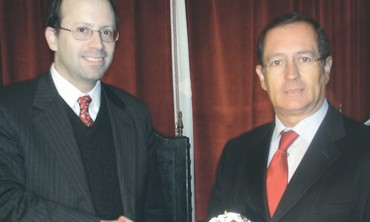 Michael Freund and Portugese mayor