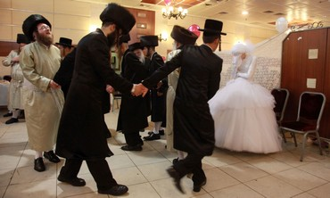 ultra orthodox weeding in bnei brak