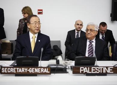 PA President Abbas, UN Secretary-General Ban