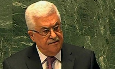PA President Mahmoud Abbas at the UN.