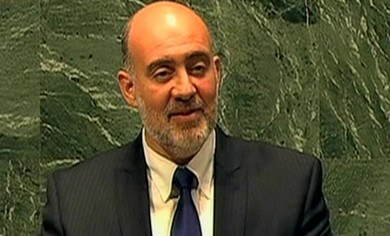 Israel UN envoy Ron Prosor at the UN.