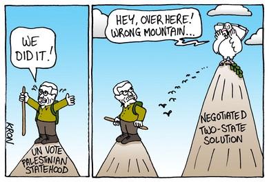 Palestinian statehood cartoon