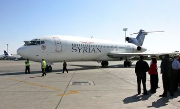 A Syrian airplane at Damascus Airport