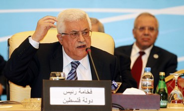 Palestinian President Mahmoud Abbas speaks