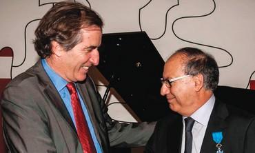 French Ambassador Bigot with Prof. Shimon Benita