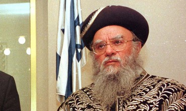 Former chief rabbi Eliyahu Bakshi-Doron [file]