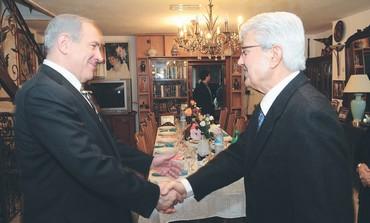 PM Netanyahu meets former FM David Levy