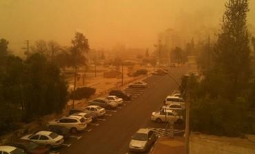 Cloud of dust in Beersheba.