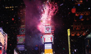 FIREWORKS ARE seen over Times Square