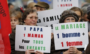 French protest against gay marriage, Nov. 18 2012
