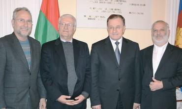 IN BELARUS last week are, from left, Yoram Dori