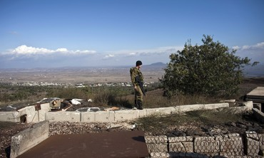IDF soldier in the Golan overlooking Syria [file]