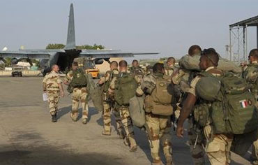 French soldiers heading to Mali, January 2013.