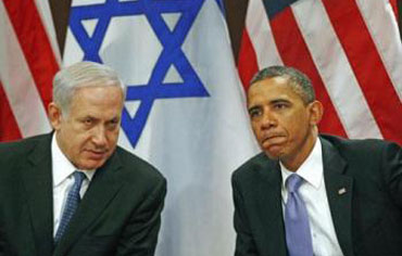 Obama and Netanyahu meeting in NY, Sept. 2011