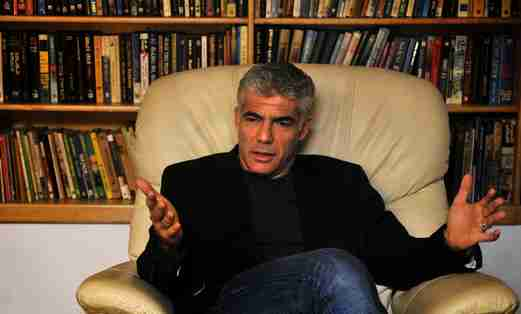 Yair Lapid in his home