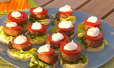 Mini Moroccan Lamb Burgers
