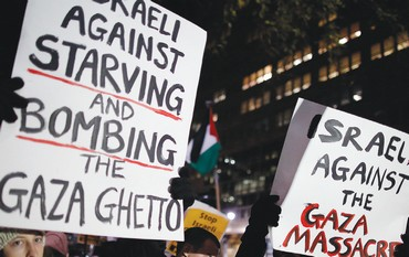 Pro-Palestinian protest against Israel in New York