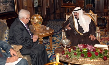 PA President Abbas and Saudi King Abdullah [file]