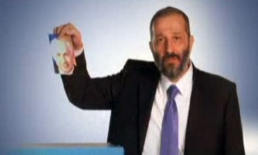 Shas leader Arye Deri in campaign video