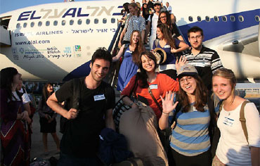 New olim arriving in Israel with Nefesh b'Nefesh, July 2012